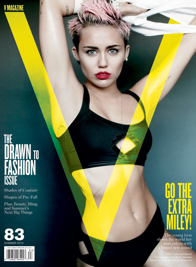 miley cyrus v magazine2 Miley Cyrus Gets Rebellious for V Magazine #83 Covers