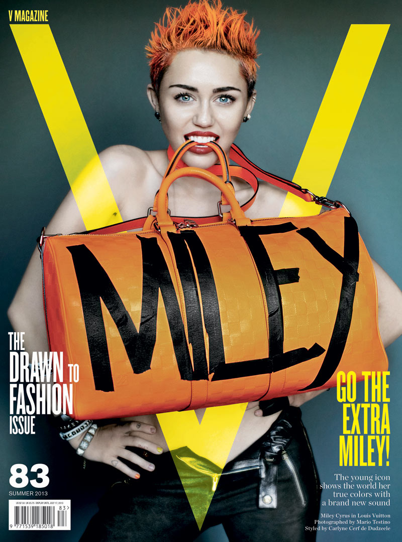 miley cyrus v magazine3 Miley Cyrus Gets Rebellious for V Magazine #83 Covers