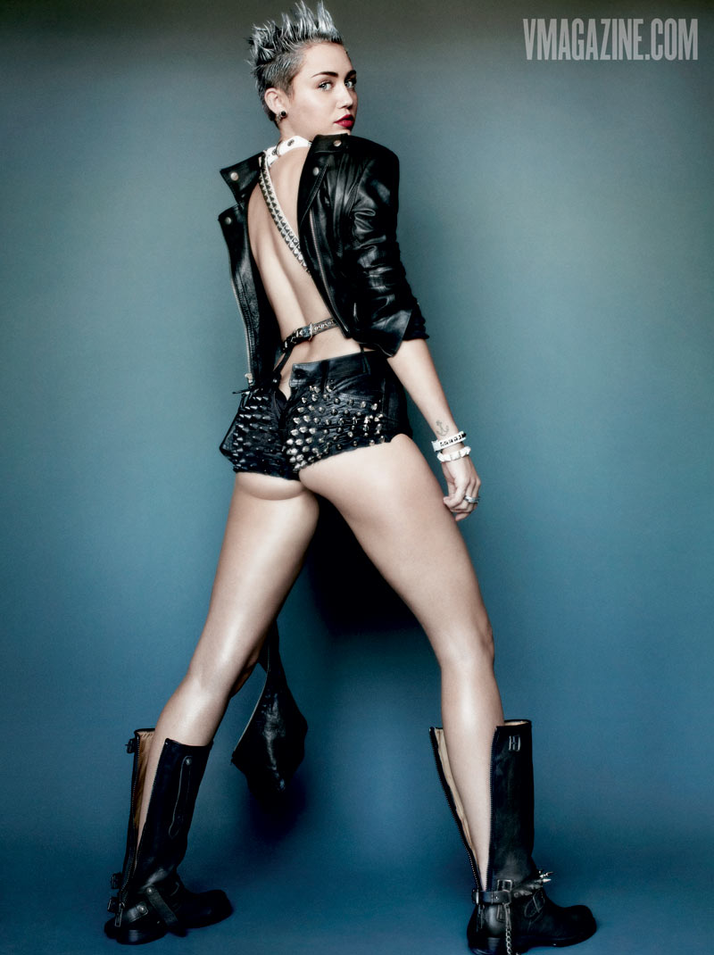 miley cyrus v magazine4 Miley Cyrus Gets Rebellious for V Magazine #83 Covers