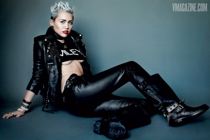 miley cyrus v magazine5 Miley Cyrus Gets Rebellious for V Magazine #83 Covers