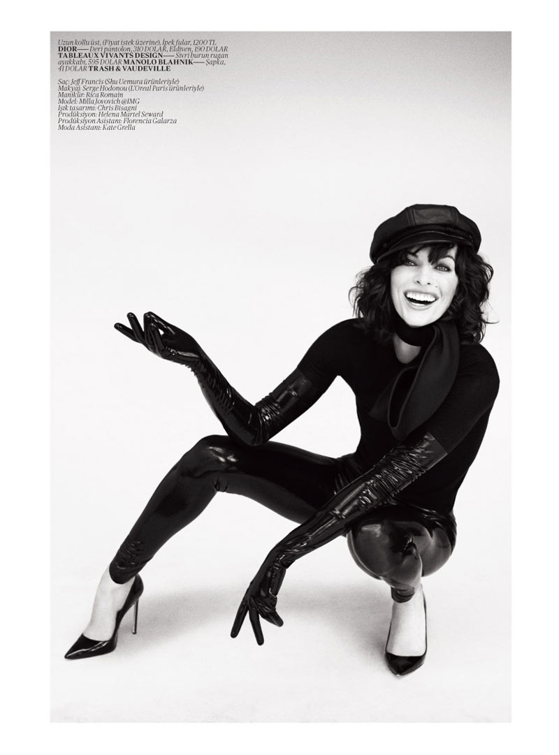 milla jovovich vogue turkey11 Milla Jovovich Gets Jovial in Vogue Turkey's May 2013 Edition by Sebastian Faena