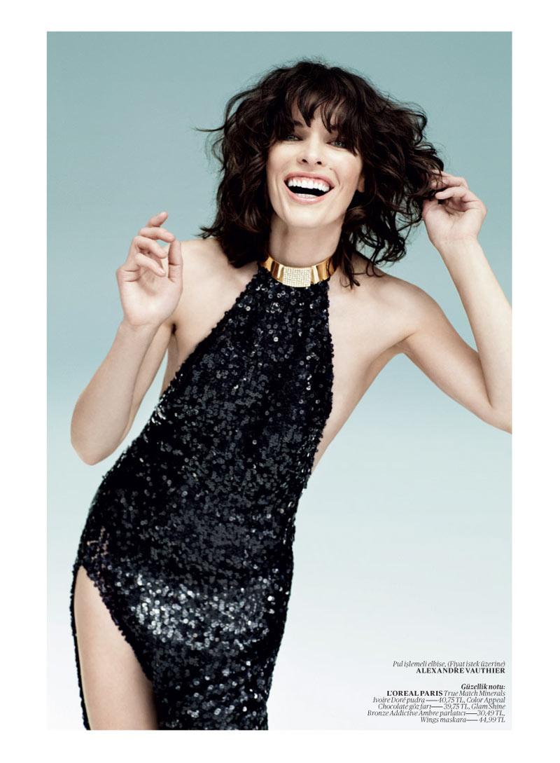 milla jovovich vogue turkey3 Milla Jovovich Gets Jovial in Vogue Turkey's May 2013 Edition by Sebastian Faena