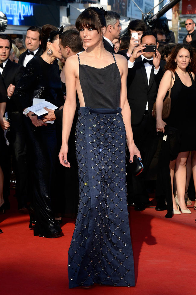 milla prada1 Milla Jovovich Shines in Prada at the Cleopatra Premiere at the Cannes Film Festival