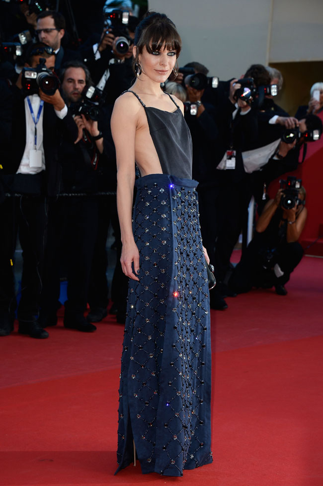milla prada2 Milla Jovovich Shines in Prada at the Cleopatra Premiere at the Cannes Film Festival