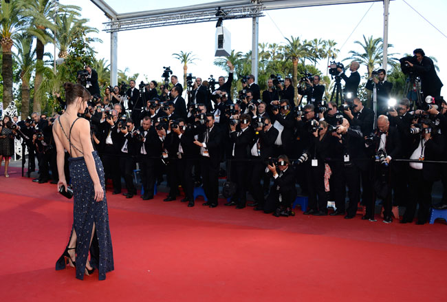milla prada3 Milla Jovovich Shines in Prada at the Cleopatra Premiere at the Cannes Film Festival