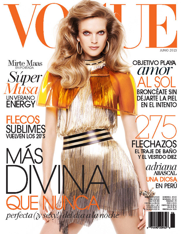 mirte maas vogue latin america13 Mirte Maas is Retro Chic for Vogue Latin Americas June 2013 Cover Story