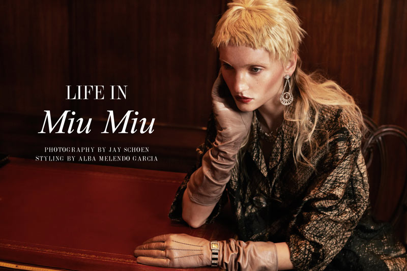 miu miu Nastia Shershen by Jay Schoen in Life in Miu Miu for Fashion Gone Rogue