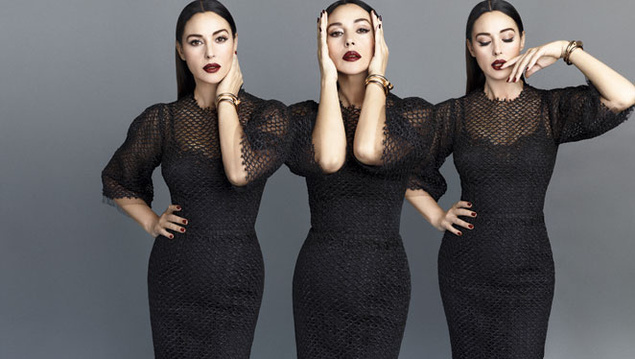 monica belluci 6730 635x Monica Bellucci Gets Sultry in Dolce & Gabbana for S Moda May 2013
