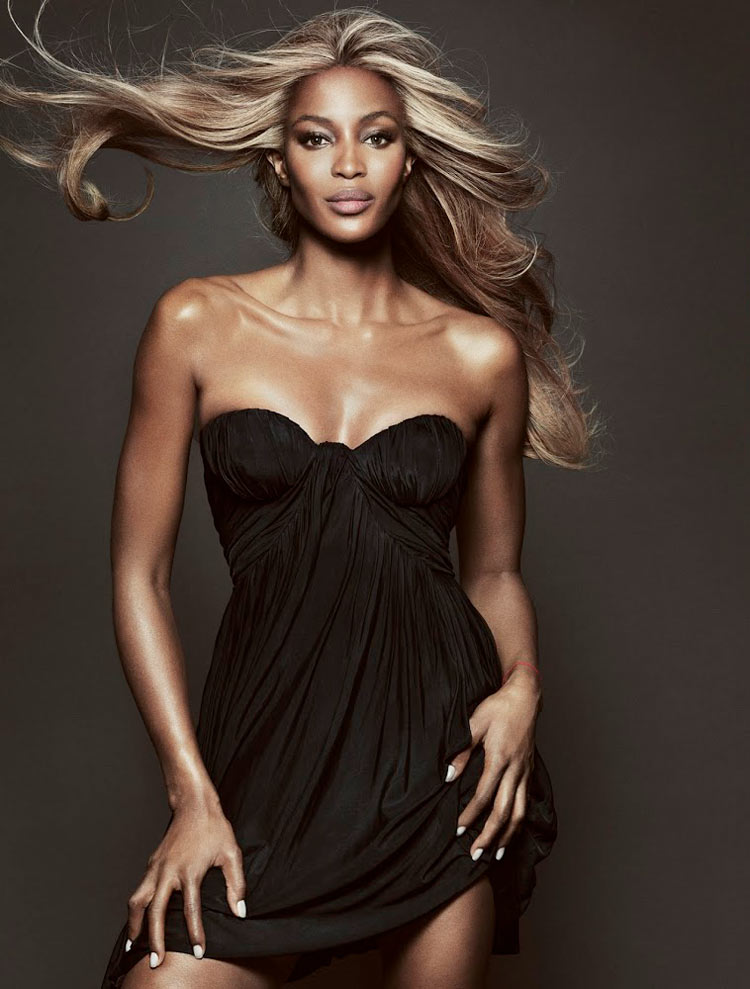 naomi campbell3 Naomi Campbell Gets Glam for Tom Munro in Vogue Brazil May 2013