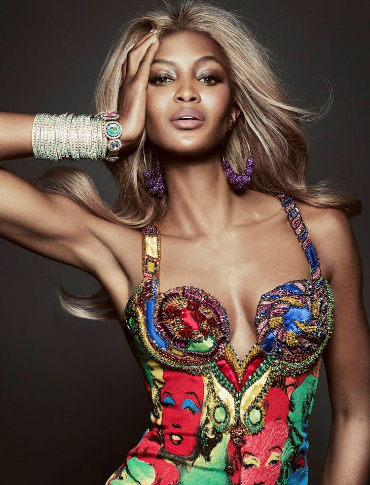 naomi campbell4 Naomi Campbell Gets Glam for Tom Munro in Vogue Brazil May 2013
