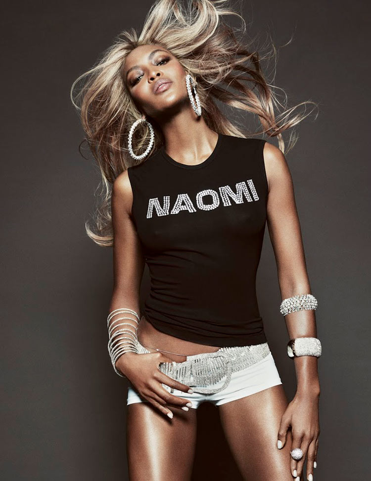 naomi campbell5 Naomi Campbell Gets Glam for Tom Munro in Vogue Brazil May 2013