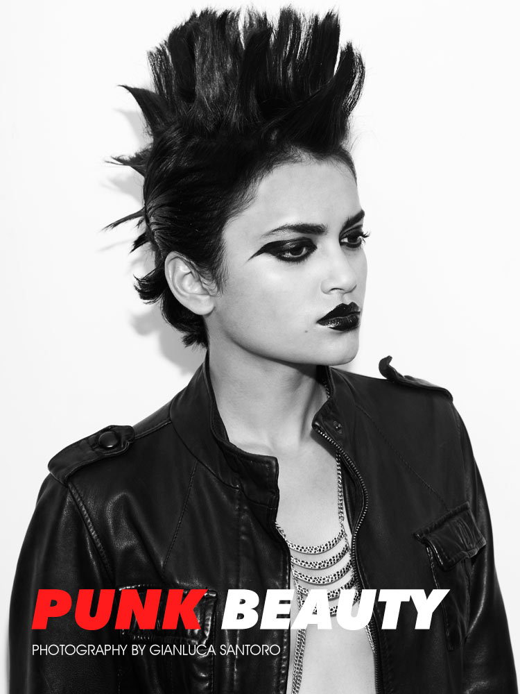 "Natasha Ramachandran by Gianluca Santoro in ""Punk Beauty"" for Fashion Gone Rogue"