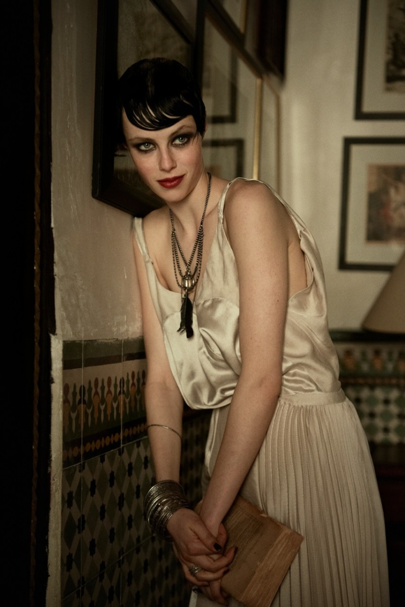 peter lindbergh edie campbell10 Edie Campbell Poses in Morocco for Peter Lindbergh in Vogue US June 2013