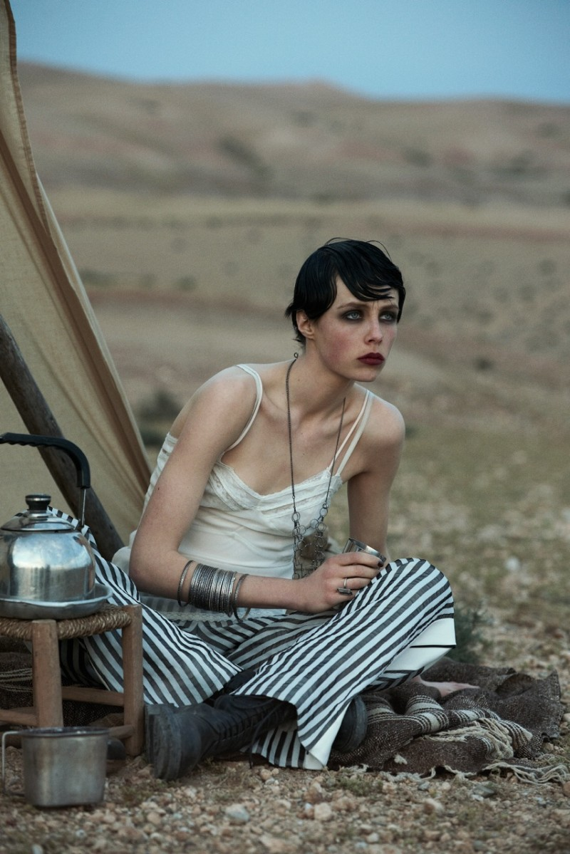 peter lindbergh edie campbell5 Edie Campbell Poses in Morocco for Peter Lindbergh in Vogue US June 2013
