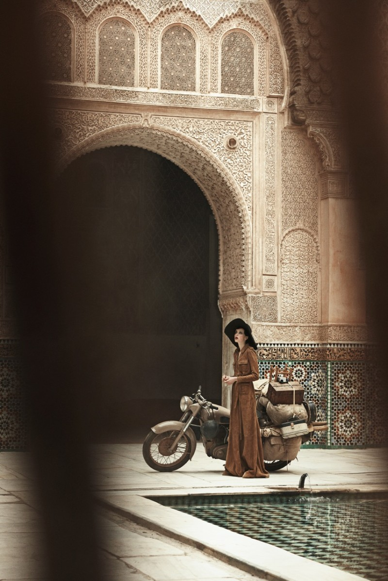 Edie Campbell Poses in Morocco for Peter Lindbergh in Vogue US June 2013