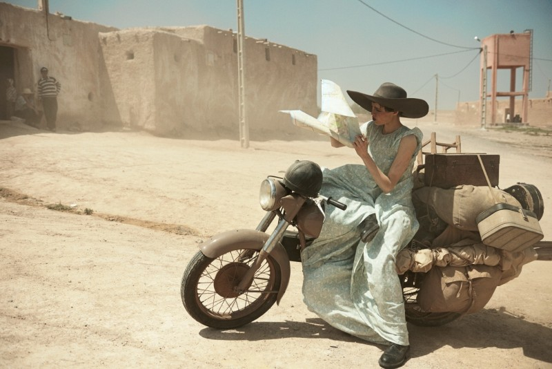 peter lindbergh edie campbell7 Edie Campbell Poses in Morocco for Peter Lindbergh in Vogue US June 2013