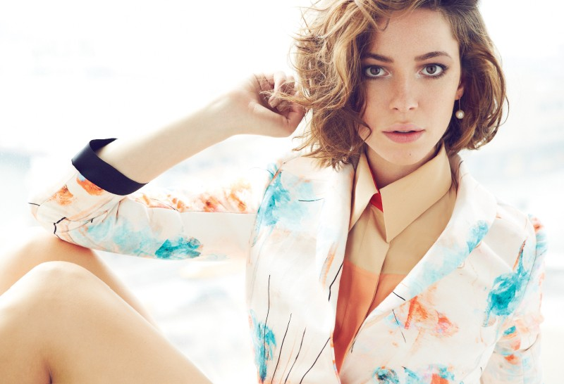 rebecca hall1 Rebecca Hall Stars in Elle Canadas June 2013 Cover Shoot by Max Abadian