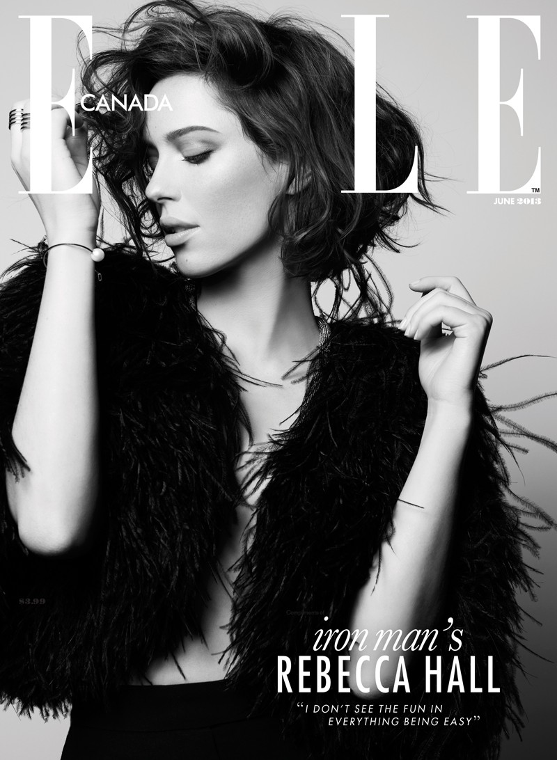 rebecca hall6 Rebecca Hall Stars in Elle Canadas June 2013 Cover Shoot by Max Abadian