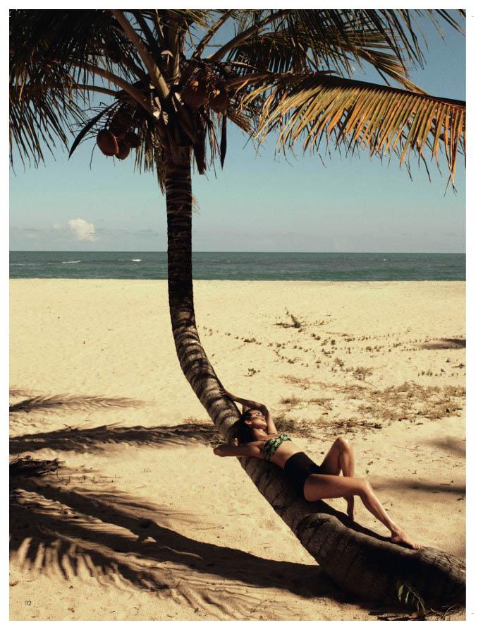 Celia Becker Models Retro Swim for Elle Sweden's June 2013 Edition