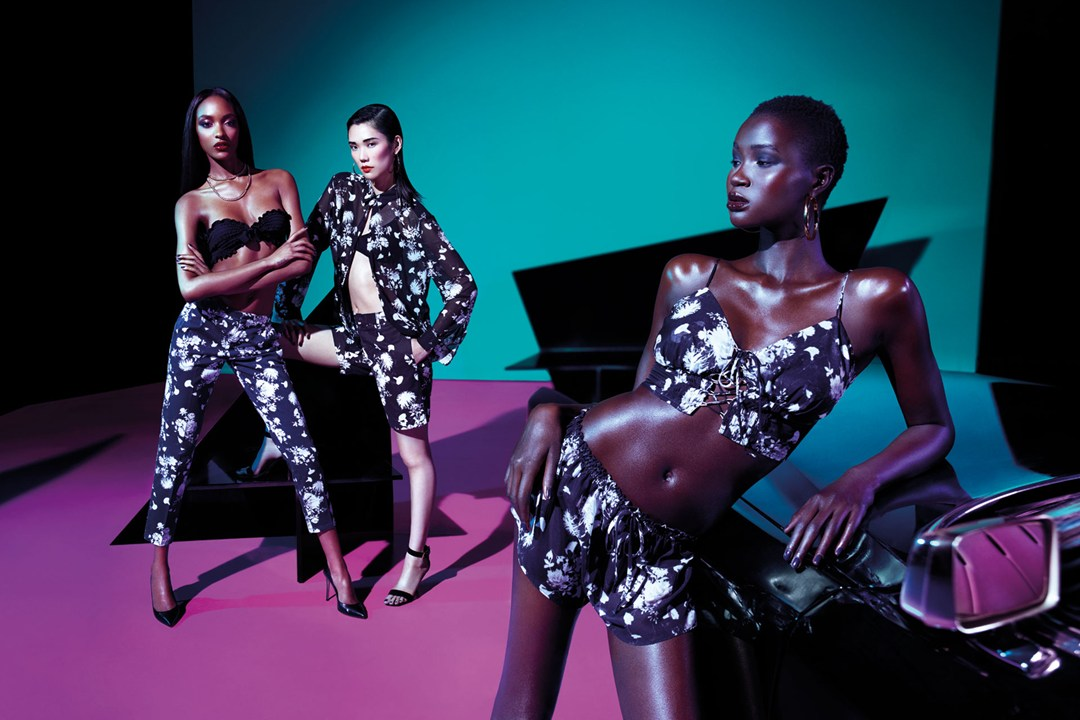 river island rihanna1 Jourdan Dunn, Tao Okamoto, Bambi Northwood Blyth and Ataui Deng Star in Rihanna for River Island Summer 2013 Campaign