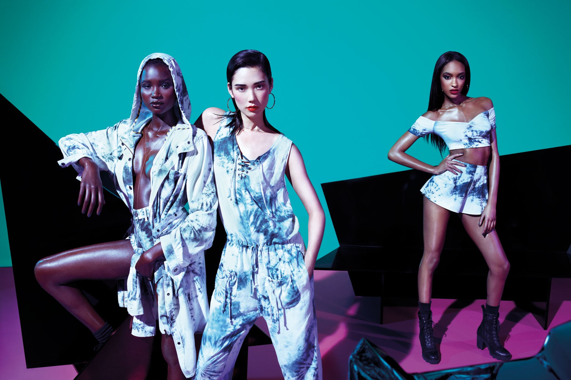 Jourdan Dunn, Tao Okamoto, Bambi Northwood-Blyth and Ataui Deng Star in Rihanna for River Island Summer 2013 Campaign