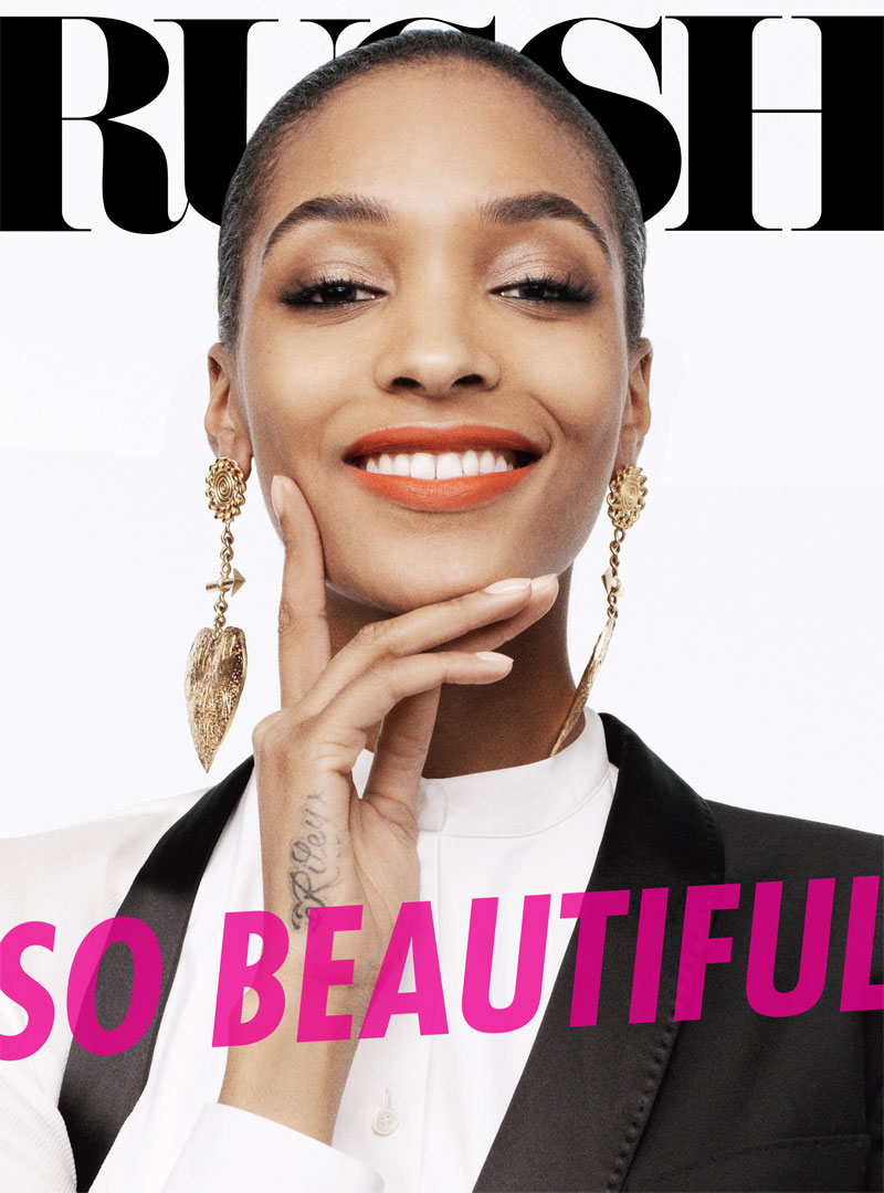 russh jourdan dunn shoot1 Jourdan Dunn is the Star of Russhs June/July 2013 Cover Shoot