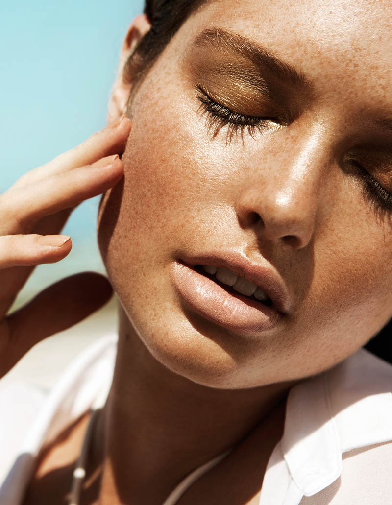 sandrah hellberg4 Sandrah Hellberg is A Bronzed Beauty for Fredrik Wannerstedt in DV Mode Summer 2013