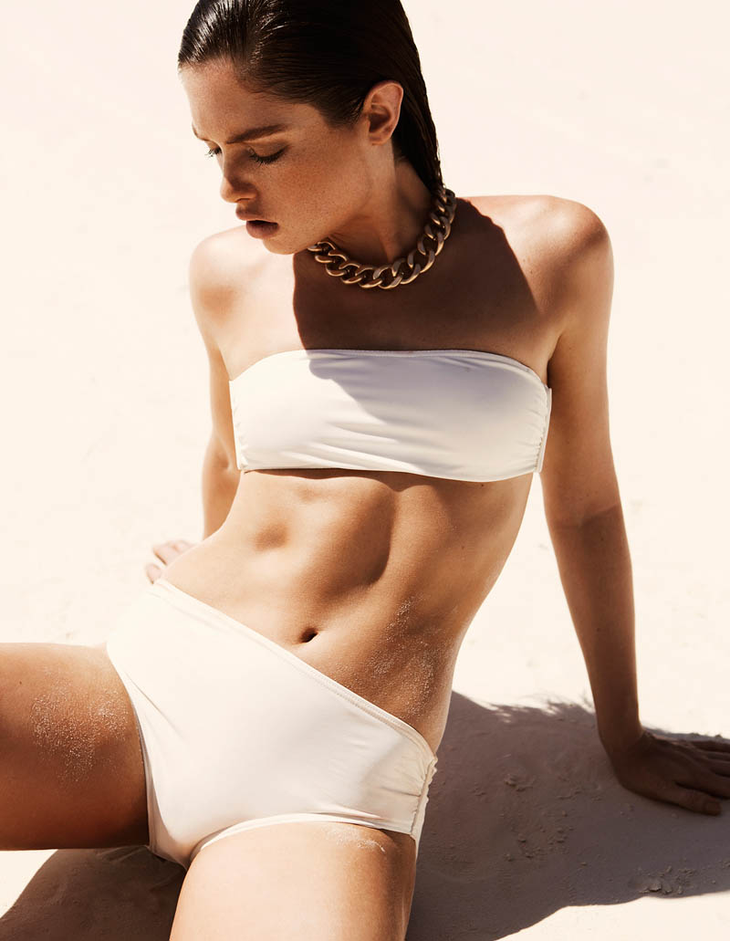 sandrah hellberg6 Sandrah Hellberg is A Bronzed Beauty for Fredrik Wannerstedt in DV Mode Summer 2013