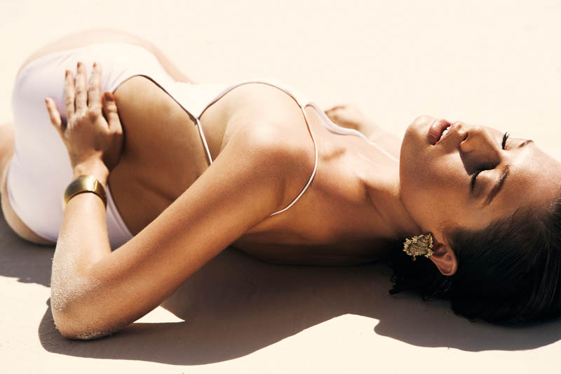sandrah hellberg7 Sandrah Hellberg is A Bronzed Beauty for Fredrik Wannerstedt in DV Mode Summer 2013