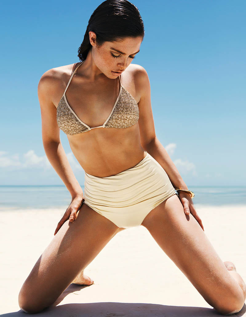 sandrah hellberg9 Sandrah Hellberg is A Bronzed Beauty for Fredrik Wannerstedt in DV Mode Summer 2013