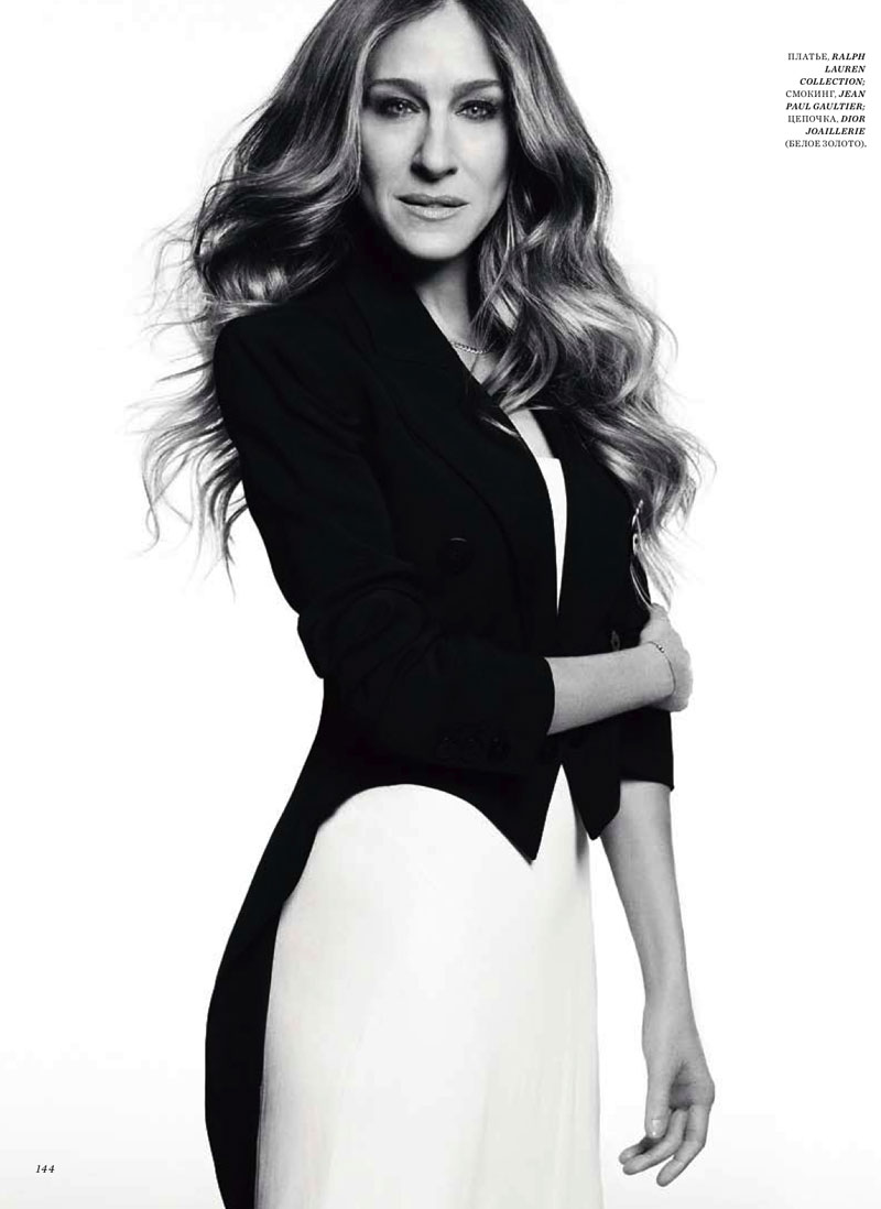 sarah jessica parker4 Sarah Jessica Parker Poses in Harpers Bazaar Russia June 2013 Cover Shoot by Simon Upton