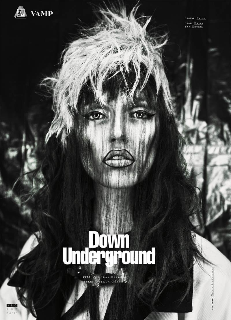 snc underground1 Gabby Dover Goes Underground for SNC Magazine by Nikolay Biryukov