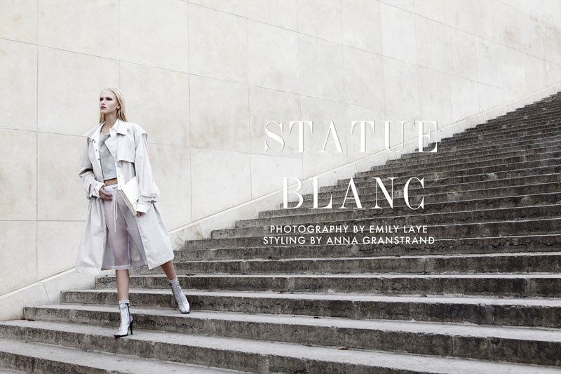 statue blanc Yulia Lobova by Emily Laye in Statue Blanc for Fashion Gone Rogue