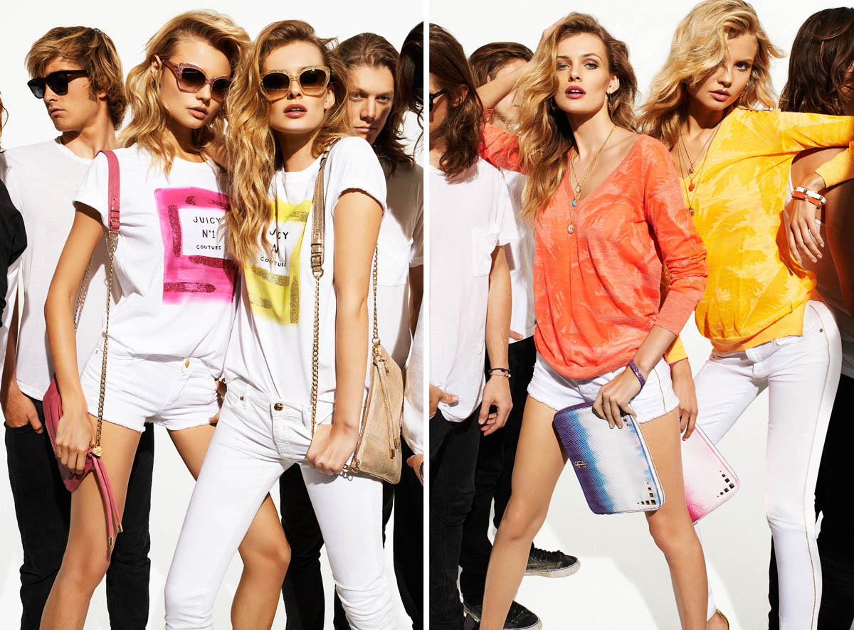 summer1 Juicy Couture Taps Edita Vilkeviciute and Magdalena Frackowiak for Summer 2013