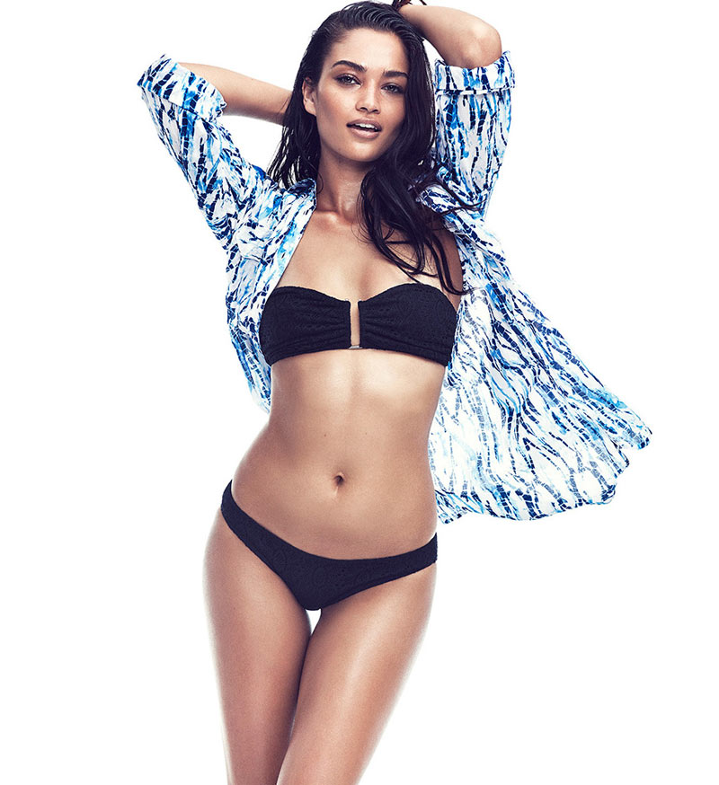 swim shanina shaik4 Shanina Shaik Makes a Splash for Gina Tricot Swimwear Collection