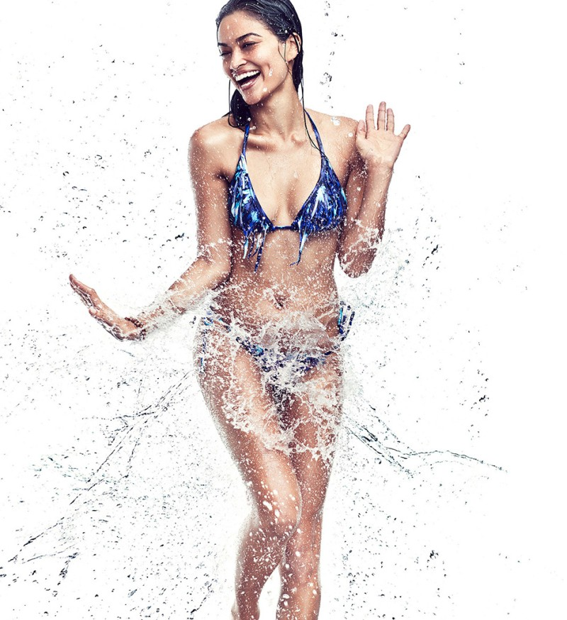 swim shanina shaik7 Shanina Shaik Makes a Splash for Gina Tricot Swimwear Collection
