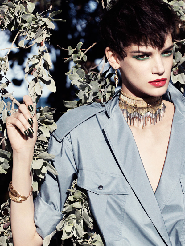 Jessica Pitti Gets Feathered for Tatler Russia June 2013 by Marcus Ohisson