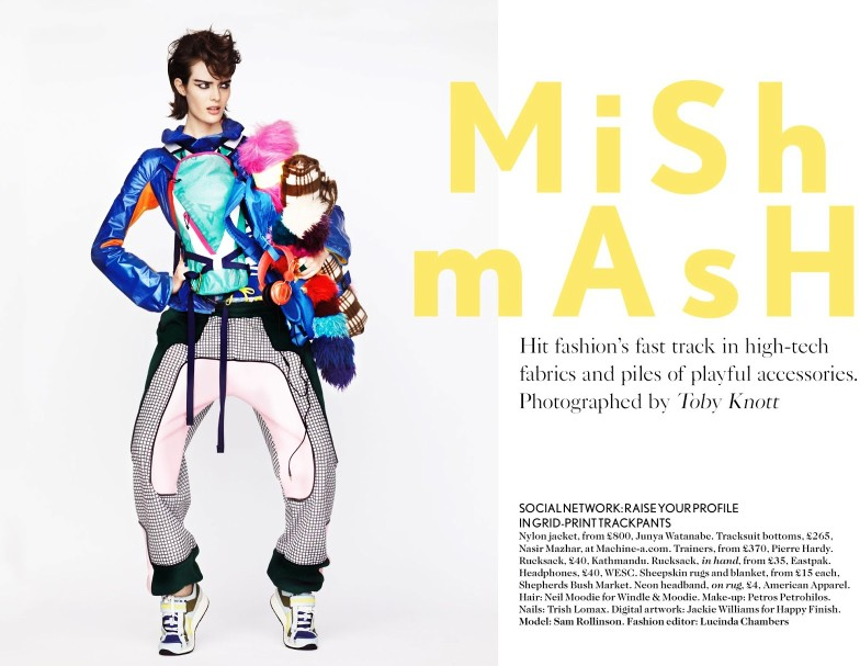 toby knott miss vogue1 Sam Rollinson Gets Mixed Up for Miss Vogue Feature by Toby Knott