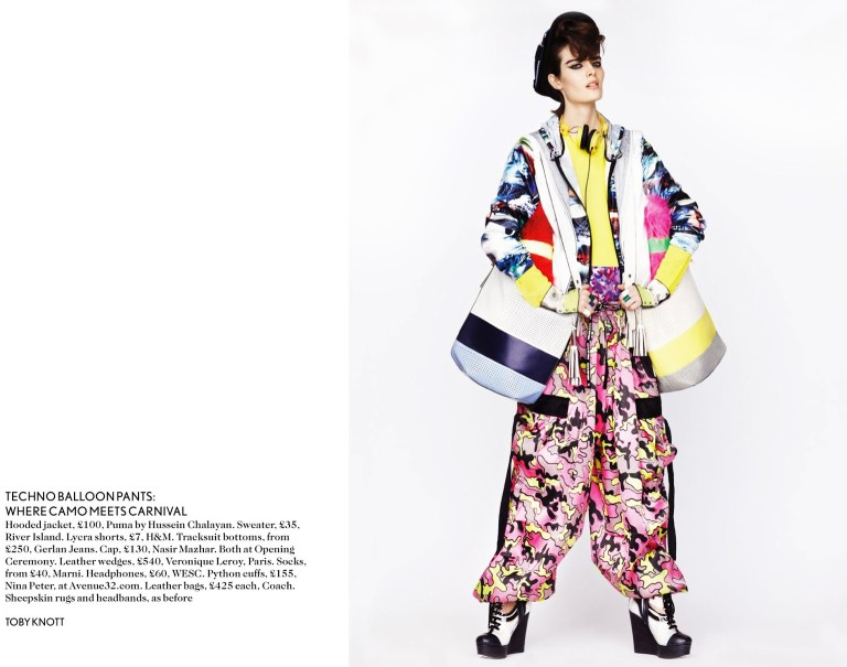 toby knott miss vogue6 Sam Rollinson Gets Mixed Up for Miss Vogue Feature by Toby Knott