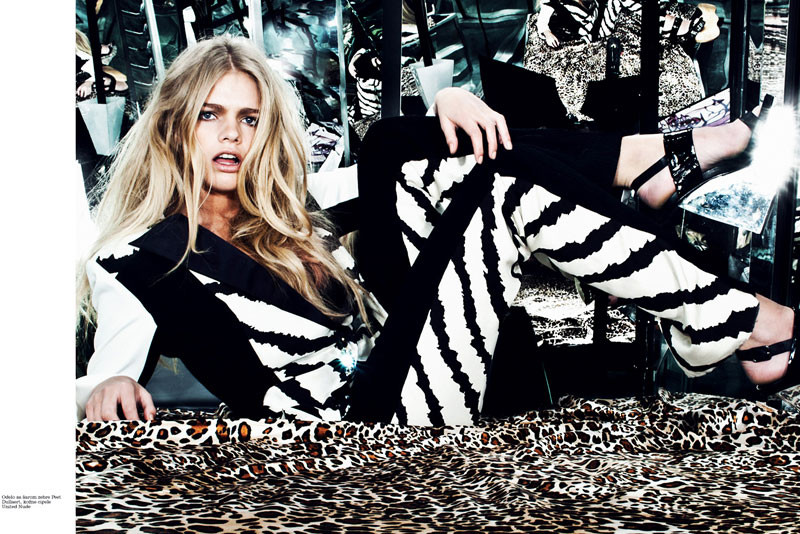 Valerie Van Der Graaf Sports Spring Style in Elle Serbia