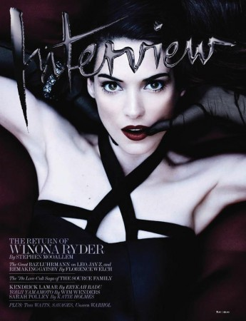 Winona Ryder Gets Dark for Interview Magazine's May 2013 Cover