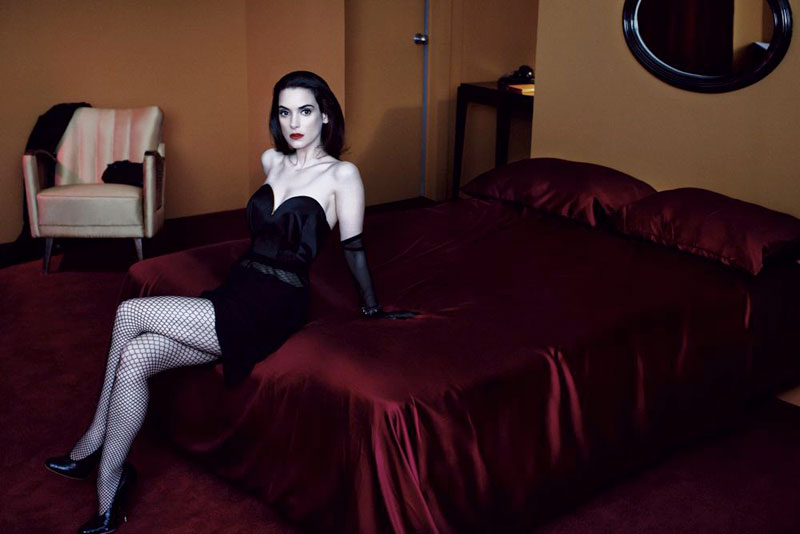 winona ryder4 Winona Ryder Gets Dark for Interview Magazines May 2013 Cover