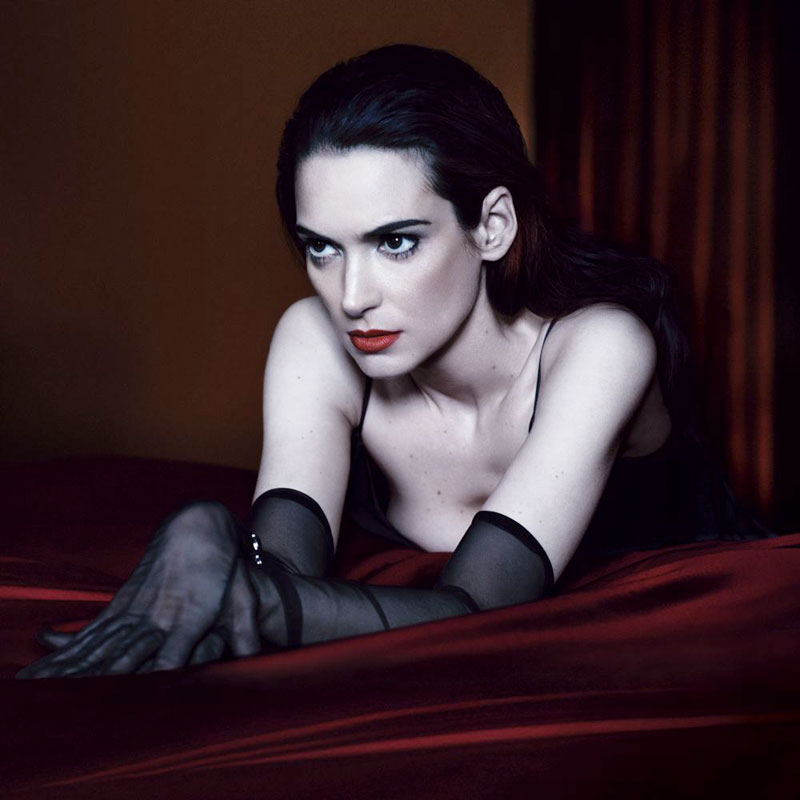 winona ryder5 Winona Ryder Gets Dark for Interview Magazines May 2013 Cover