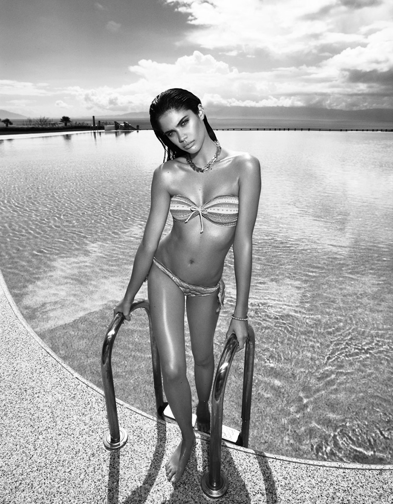 10707 Sara Sampaio Keeps Cool for LOfficiel Turkey June 2013 by Emre Dogru