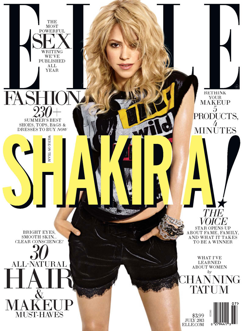 ELLE July cover Shakira Shakira Covers ELLE US July 2013