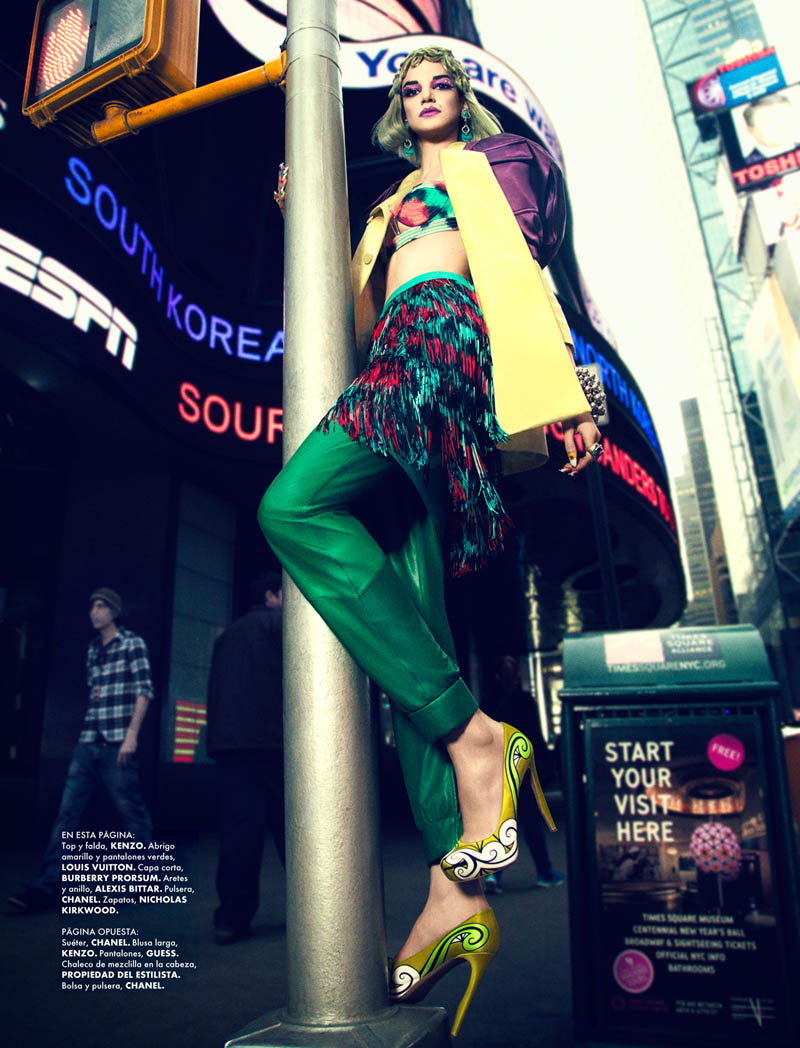 Elle Mexico 3 720 3 Jessica Pitti Gets Colorful for Yossi Michaeli in Elle Mexico June 2013