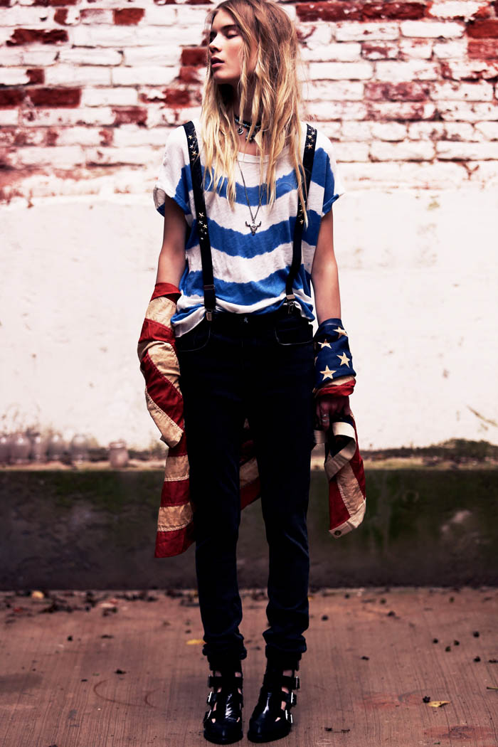 Free People Americana 12 Elsa Sylvan Dons Americana Style for Free People Lookbook