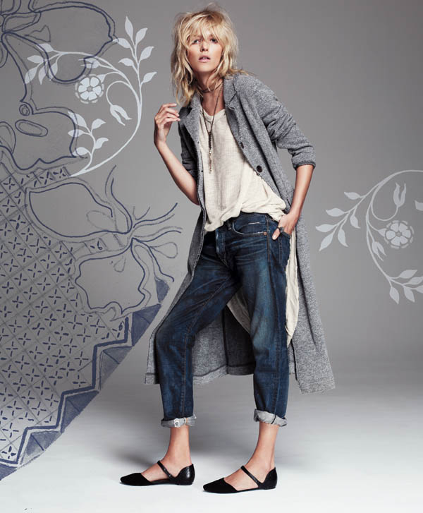 Free People July 2013  Anja Rubik 1 Anja Rubik Fronts Free People July Catalogue
