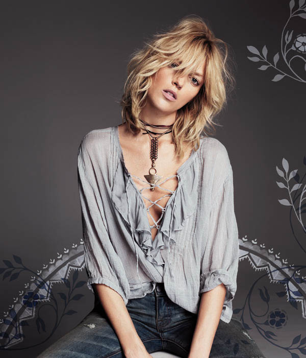 Free People July 2013  Anja Rubik 12 Anja Rubik Fronts Free People July Catalogue