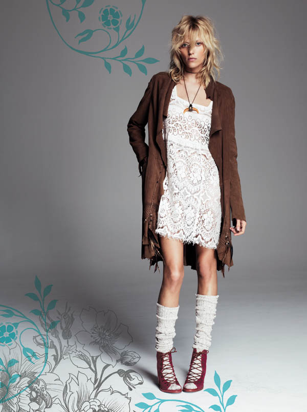Free People July 2013  Anja Rubik 2 Anja Rubik Fronts Free People July Catalogue